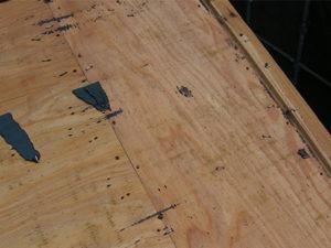 前橋市 コロニアル屋根葺き替え 野地板