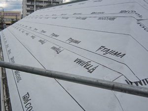 前橋市 コロニアル屋根葺き替え ルーフィング