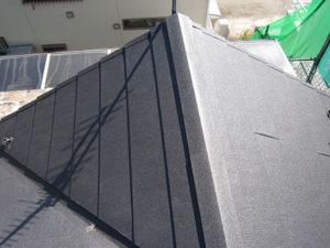 前橋市 コロニアル屋根からGL鋼板屋根葺き替え 完工