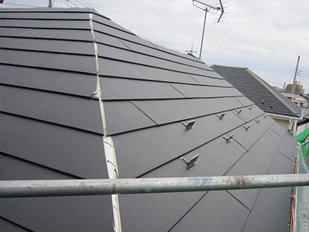前橋市 コロニアル屋根葺き替え GL鋼板張り