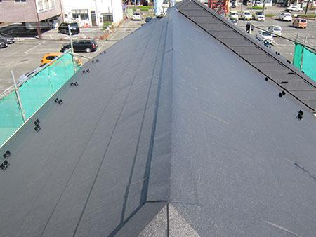 前橋市 コロニアル屋根からGL鋼板屋根葺き替え 後