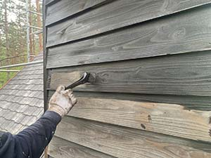 木部外壁下塗り