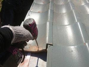 屋根葺き直し 瓦設置