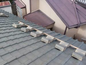 屋根葺き直し 瓦撤去 保管