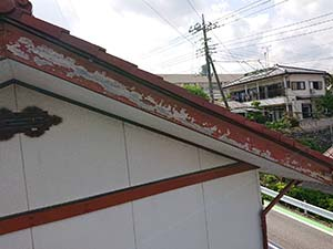 渋川市破風板塗装