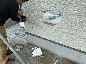 サイディング壁修理
