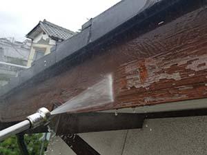 渋川市 破風板洗浄