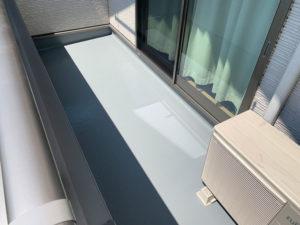 伊勢崎市 ベランダFRP防水トップコート塗装