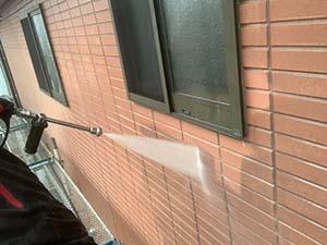 吉岡町 壁洗浄