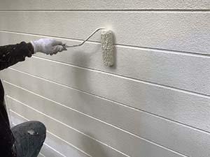 別荘 外壁中塗り