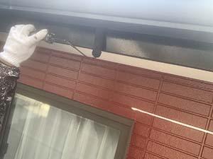 吉岡町 破風板 塗装