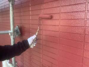 吉岡町 外壁上塗り
