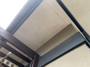 前橋市富士見町 モルタル外壁 軒天塗装
