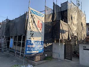前橋市富士見町 外壁塗装 足場工事